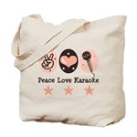 Peace Love Karaoke Tote Bag