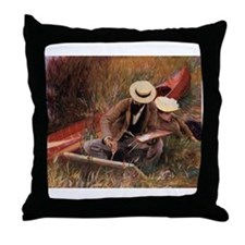 """""""Paul Helleu Sketching With His Wife""""Throw Pillow"""