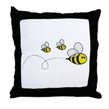 Bees!! Throw Pillow