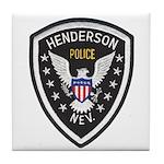 Henderson Police Tile Coaster