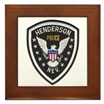 Henderson Police Framed Tile