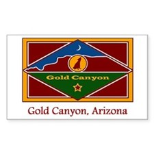 Gold Canyon AZ Flag Rectangle Decal