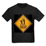 You Are Being Monitored Kids Dark T-Shirt