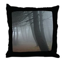 Mysterious Mist Throw Pillow