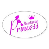 Mauritanian princess Oval Decal