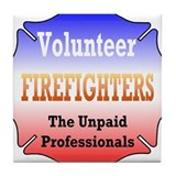 Volunteer firefighters Tile Coaster