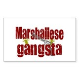 Marhallese Gangsta Rectangle Decal