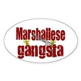 Marhallese Gangsta Oval Decal