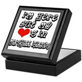 heart in Marshall islands Keepsake Box