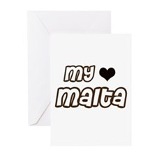 my heart Malta Greeting Cards (Pk of 20)