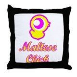 Maltese Chick Throw Pillow