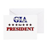 GIA for president Greeting Cards (Pk of 20)