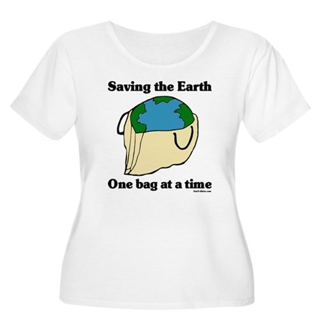 Saving the Earth Women's Plus Size Scoop Neck T-Sh