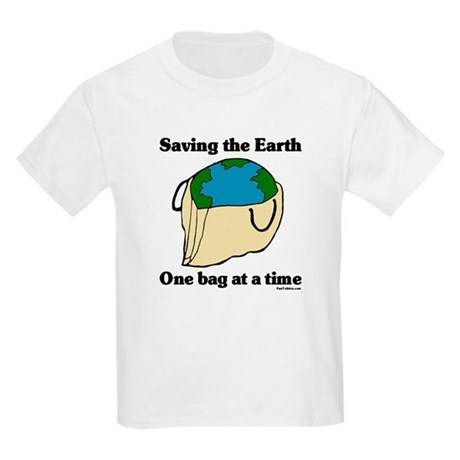Saving the Earth Kids Light T-Shirt
