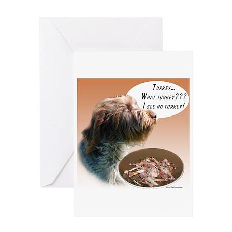 Griffon Turkey Greeting Card
