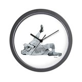 Wrestling Pin Cradle Wall Clock