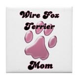 Wire Fox Mom3 Tile Coaster