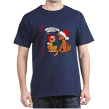 Christmas Pets Dark Men's T-Shirt