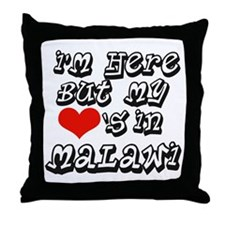 Heart in Malawi Throw Pillow