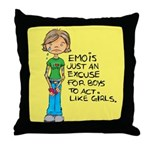 Emo Is Just An Excuse For Boy Throw Pillow