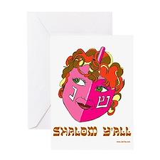 Shalom Y'all Dreidel Greeting Card