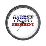 GARRET for president Wall Clock