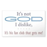 It's not God - Rectangle Decal