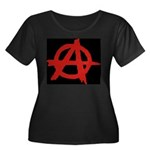 Anarchy Women's Plus Size Scoop Neck Dark T-Shirt