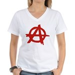 Anarchy Women's V-Neck T-Shirt