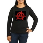 Anarchy Women's Long Sleeve Dark T-Shirt