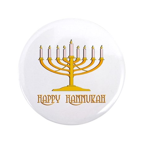 "Happy Hanukkah 3.5"" Button (100 pack)"