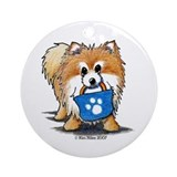 Doggie Bag Pom Ornament (Round)