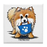 Doggie Bag Pom Tile Coaster
