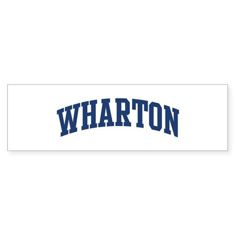 WHARTON design (blue) Bumper Sticker