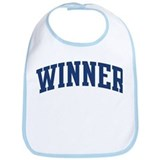 WINNER design (blue) Bib