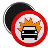 "Exploding Car 2.25"" Magnet (100 pack)"