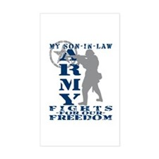 Son-in-Law Fights Freedom - ARMY Sticker (Rectangu