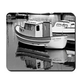 Grey Whale Boat Mousepad