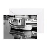 Grey Whale Boat Greeting Cards (Pk of 10)