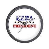 EZRA for president Wall Clock