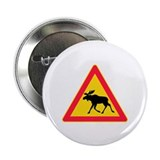 Moose Crossing Road Sign 2.25&quot; Button (100 pack)