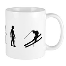 Evolution of Skiing  Mug