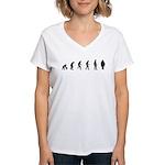 Evolution of Firefighter Women's V-Neck T-Shirt