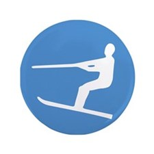 "Waterskiier 3.5"" Button (100 pack)"