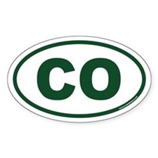 Colorado CO Euro Oval Decal