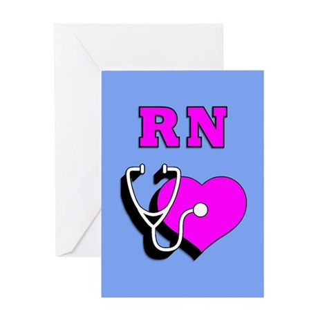 RN Nurses Care Greeting Card