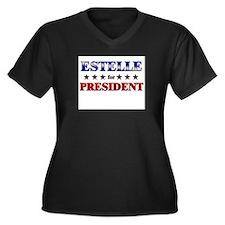 ESTELLE for president Women's Plus Size V-Neck Dar