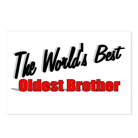 """The World's Best Oldest Brother"" Postcards (Packa"