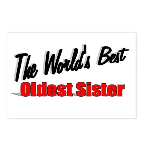 """The World's Best Oldest Sister"" Postcards (Packag"