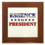 ESSENCE for president Framed Tile